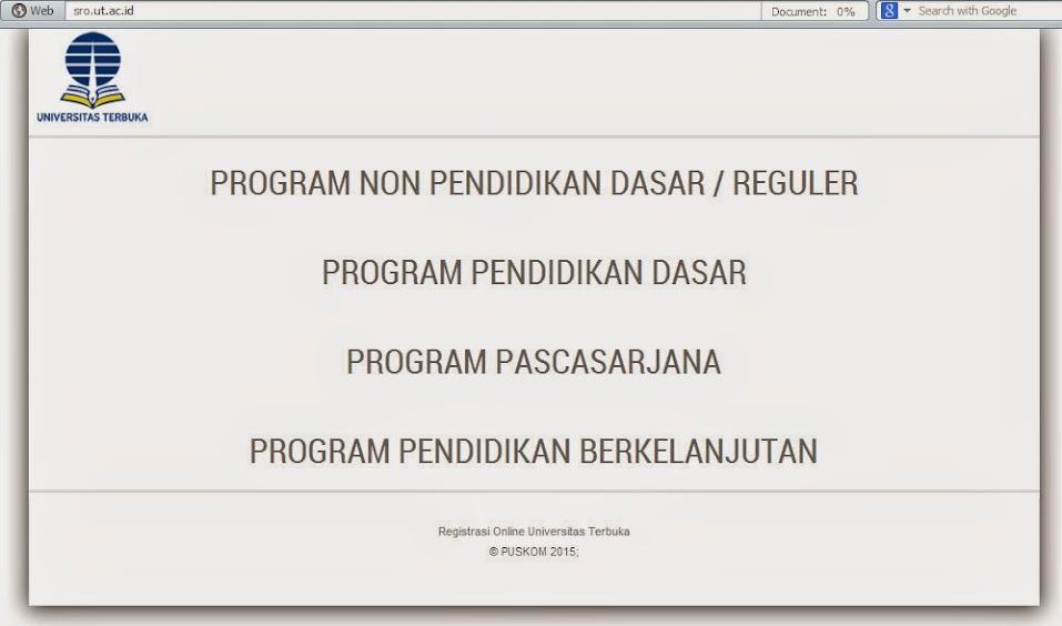 Panduan Sistem Registrasi Online (SRO) Pendas