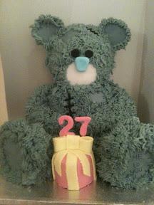 27th Birthday cake - Forever Friends Teddy