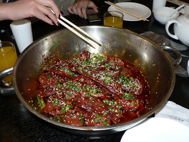 bowl of spicy duck heads