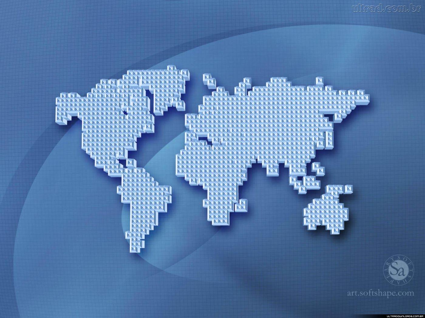 Mundo mapa m ndi tem tico - Papel pared mapa mundi ...
