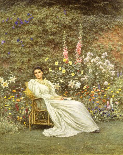 Helen Allingham - In the Garden