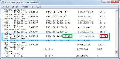 Averiguar qué aplicación está usando un puerto de comunicaciones en Windows