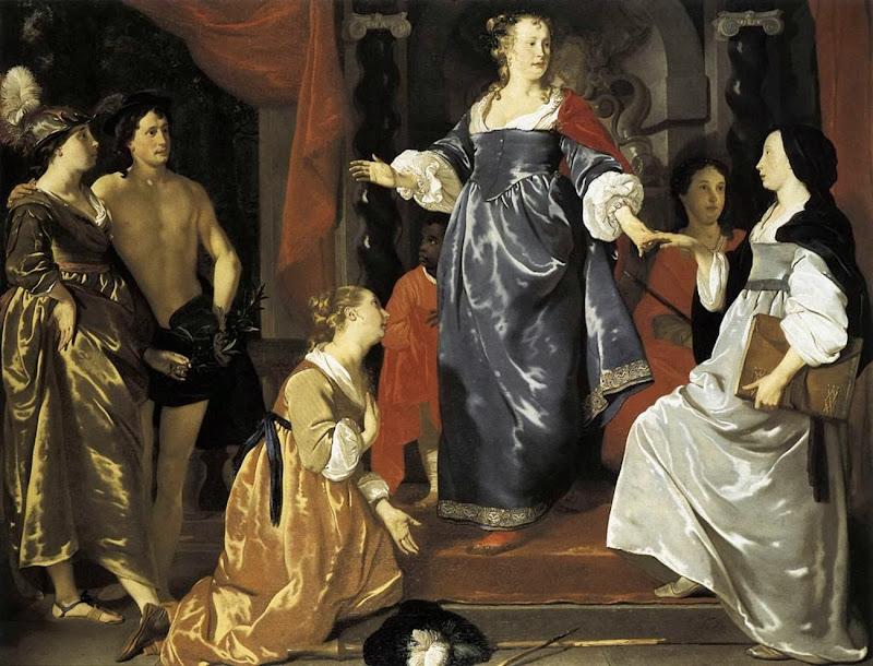 Abraham Lambertsz. van den Tempel - Maid of Leiden Welcomes Nering