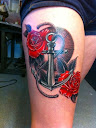 anchor and rose tattoo Ideas 6