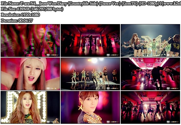 [MV] T-ara N4 - Countrylife Side (Dance Ver.) (GomTV HD 1080p)