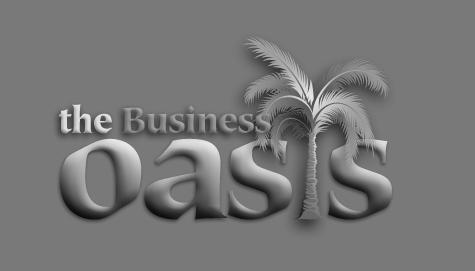 business oasis grey scale logo