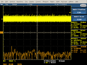 Low frequency oscilloscope trace from Samsung oblong charger