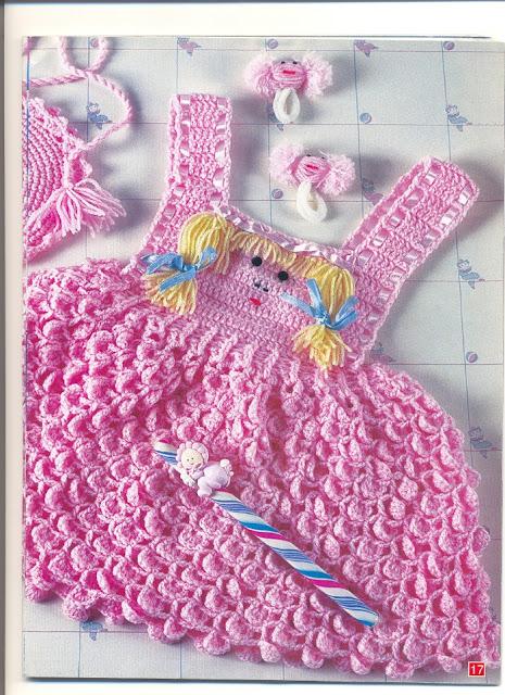 As receitas de croch jardineira em croche para menina for Jardineira infantil c a