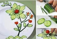 farklı salata süsleme yöntemleri