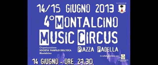 Flyer Montalcino Music circus 2013