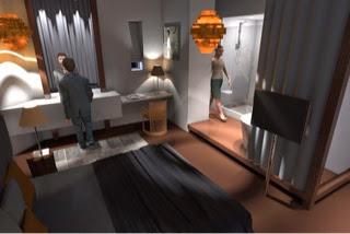 bezig met 3d ontwerpen etage in amsterdam zuid bouwstijl amsterdamse school slaapkamer badkamer