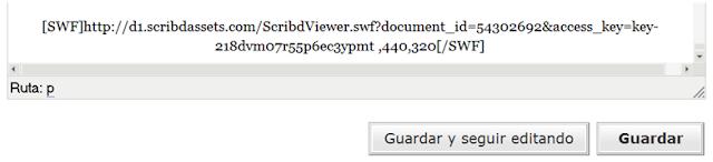 código scribd incrustado en editor