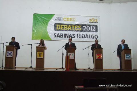 Candidatos participantes en el Debate 2012