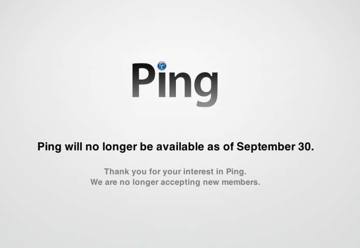 Apple Shuts off iTunes Ping Social Network