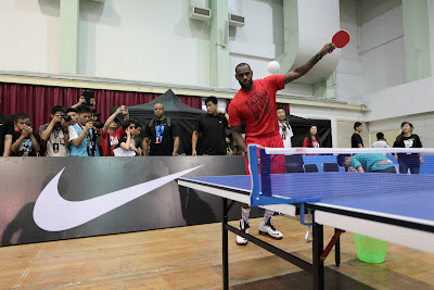 other event 120823 asia tour shanghai 2 06 LeBron Plays Voleyball & Ping Pong at Nike+ Festival of Sport 2012