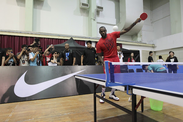 LeBron Plays Voleyball amp Ping Pong at Nike Festival of Sport 2012