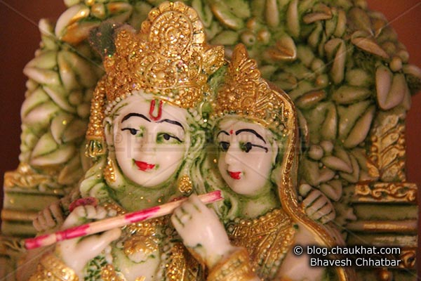 Beautiful statue of Radha-Krishna