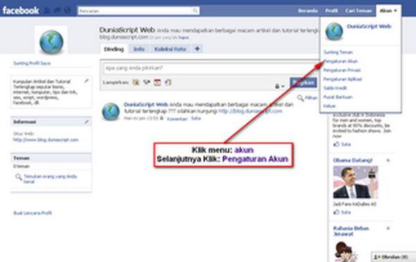 Cara Menonaktifkan Akun facebook, Cara Menutup Akun facebook