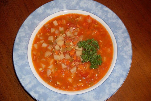 Manhattan Clam Chowder, from your pantry, made easily from staples on hand.