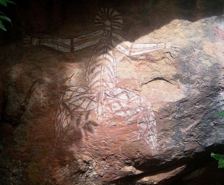 Наскальные рисунки аборигенов