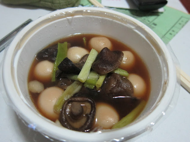 蠔油燒香菇鳥蛋(香菇、蔥段)