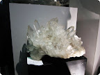 Giant cluster of quartz crystals.