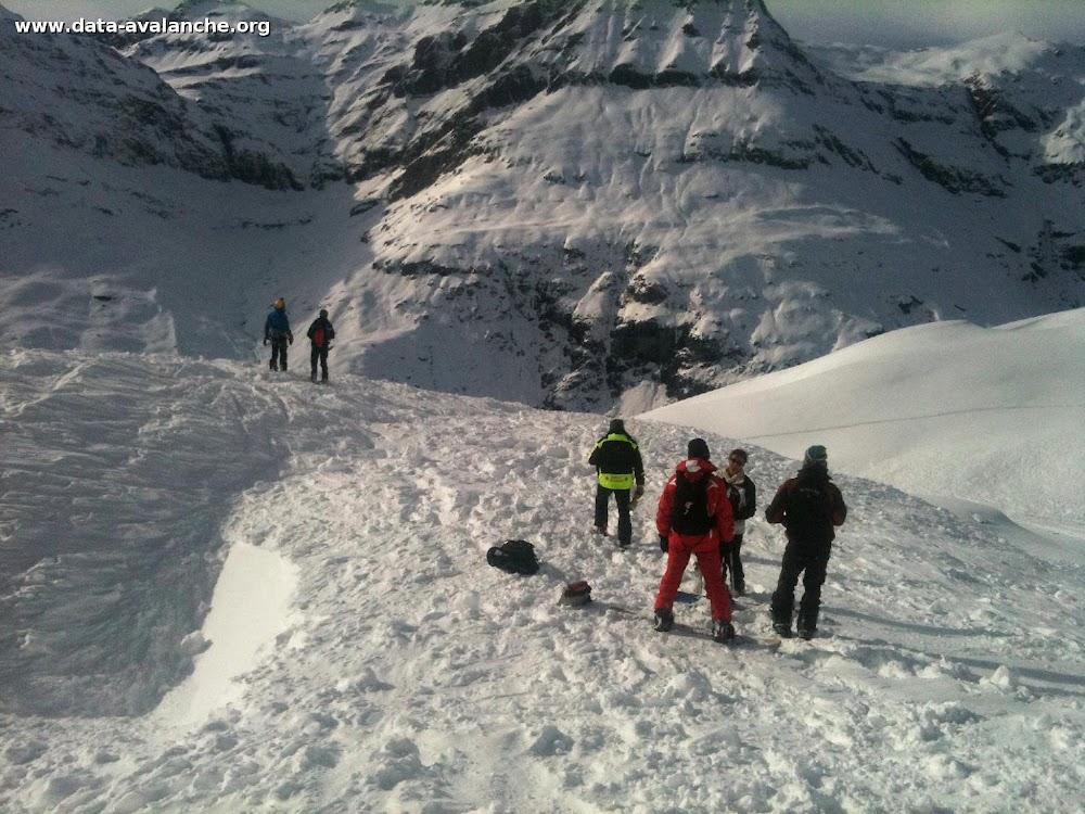 Avalanche Haute Maurienne, secteur Pointe d'Andagne, Zone haute sous Andagne depuis les 3000 - Photo 1