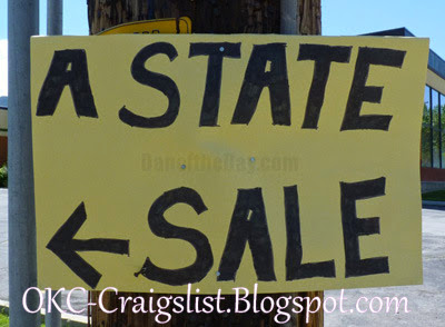 GARAGE SALE SIGN-OF-THE-WEEK: Which State?