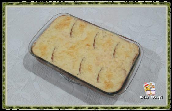 Sanduiche de forno com frios