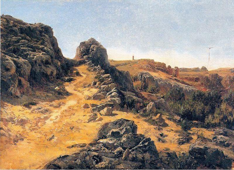 Carlos de Haes - Cercanías del Monasterio de piedra