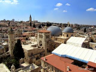 Старый город Иерусалима. Вид с колокольни Редимир. Экскурсия Иерусалим за полдня. Гид в Иерусалиме Светлана Фиалкова.