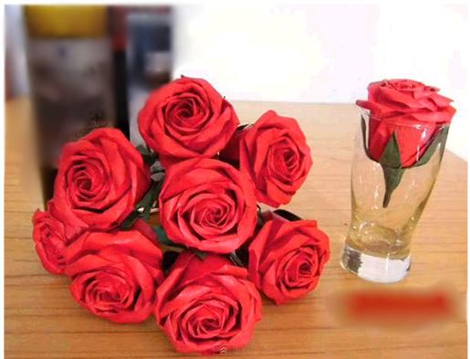 como fazer rosas de origami