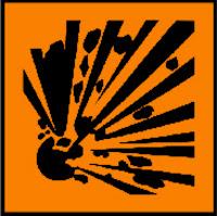 explosive (bersifat mudah meledak)