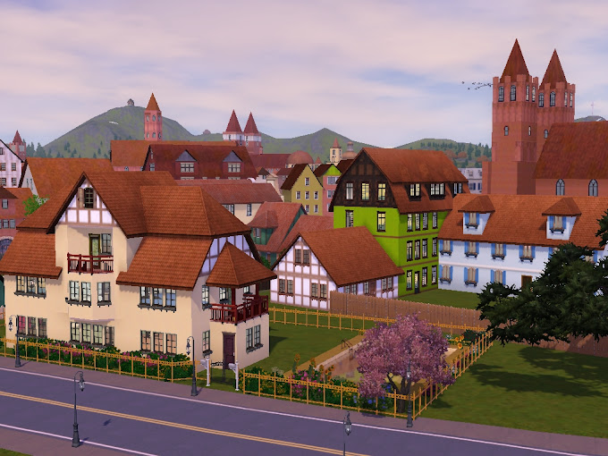 gothic kirche sims3 stadt