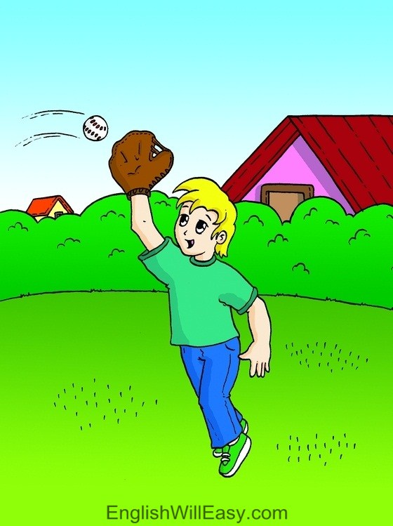 Picture Card For Kids- Verbs- catch