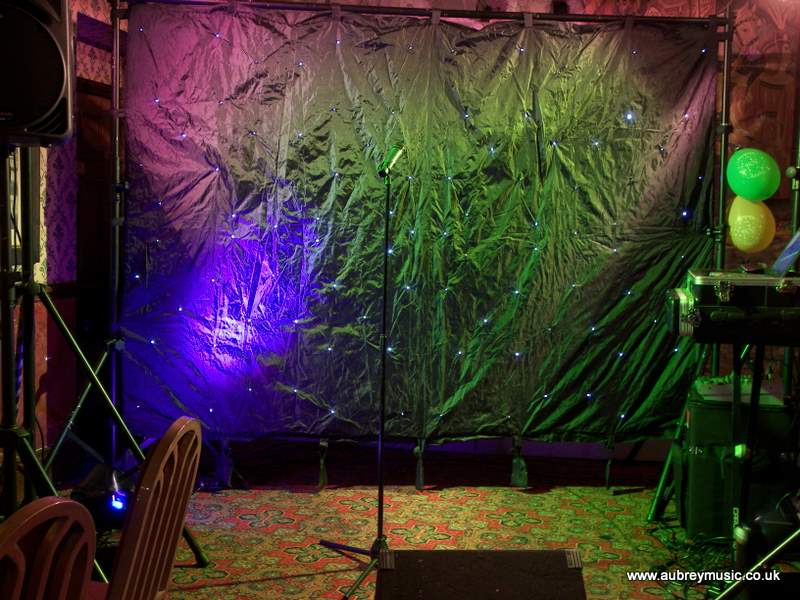 You Dont Have To Use A Star Cloth Simple Black Draping Or Giant Printed Logo Of The Band Will Do Just As Well It Makes Stage Area Look More Like
