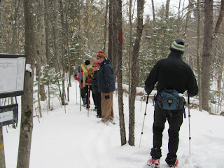 "Plenty of snow (6 - 8"") for snowshoes but they were not necessary. Poles are always a good idea."