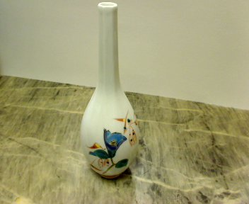 小野祥瓷 草花文 花瓶