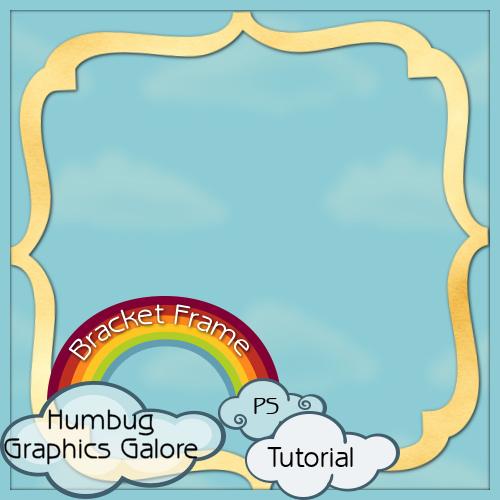Humbug Graphics Galore: Bracket Frame in Photoshop