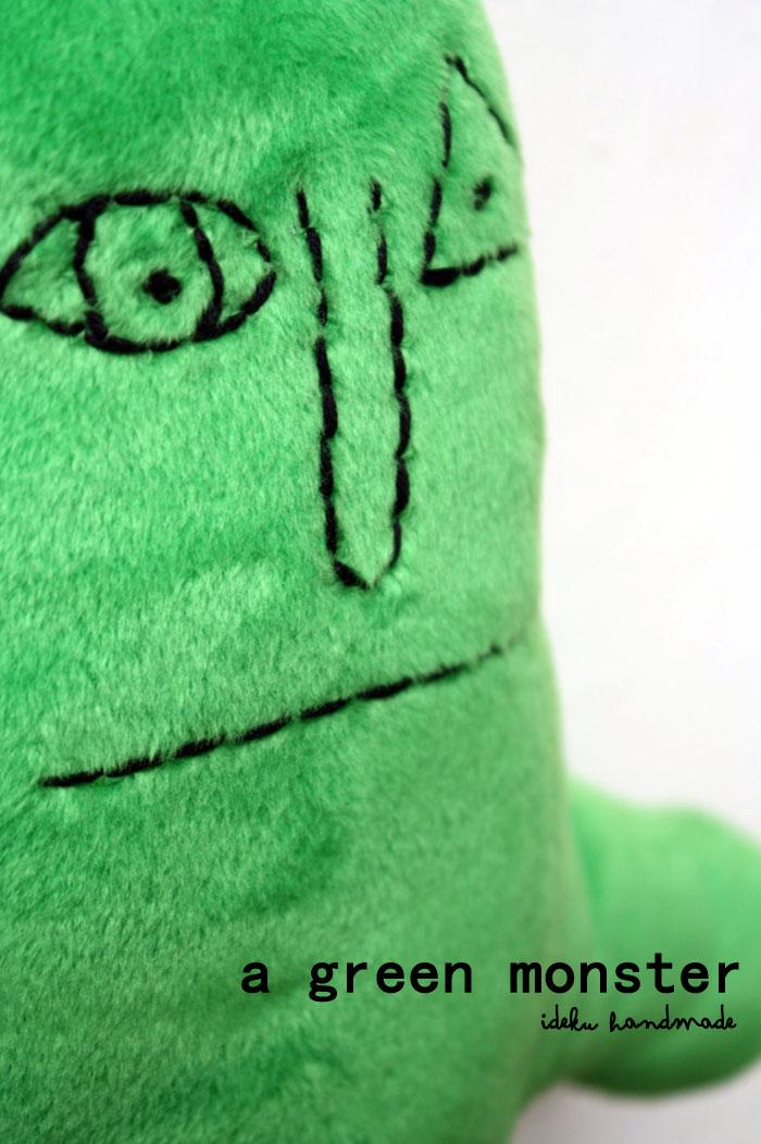 Ideku Handmade A Green Monster