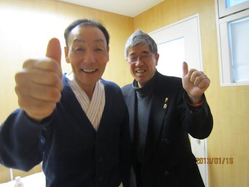 飯田さんと干場功代表