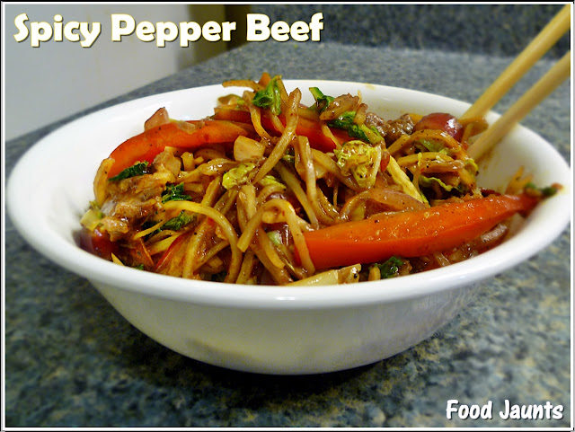Spicy Pepper Beef Stir Fry