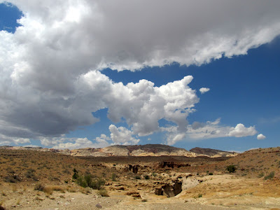 Dark clouds moving in, and the start of something interesting and unexpected in the canyon