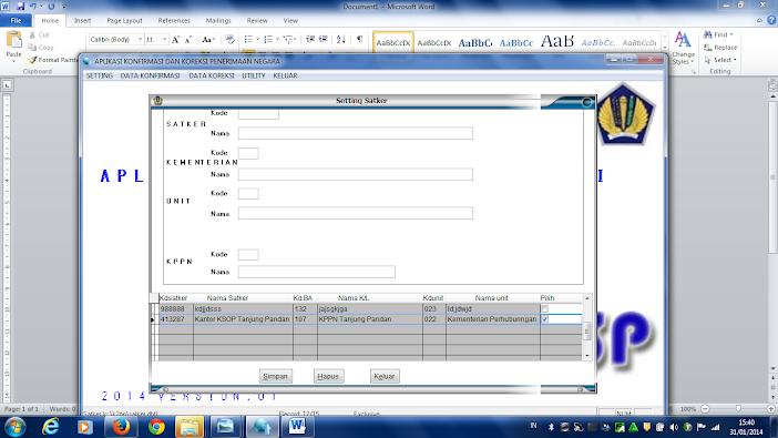 Fitur Multi Satker Aplikasi KP2N