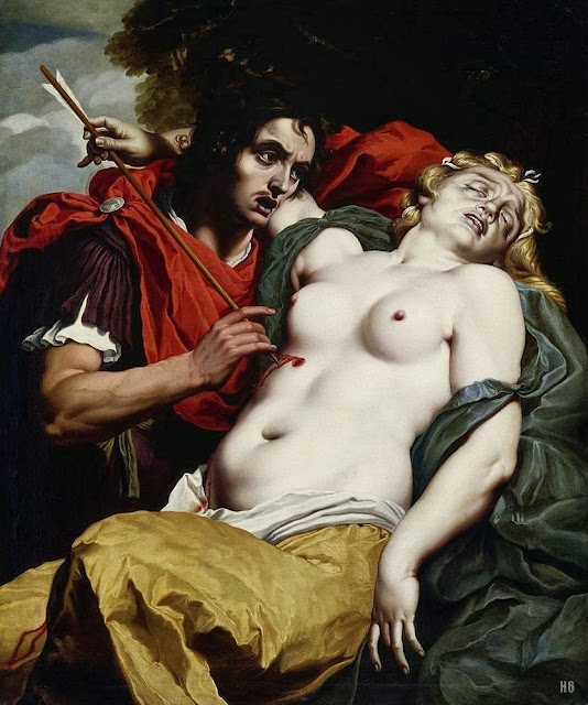 Abraham Janssens - Cephalus grieving over the dying Procris. 1610