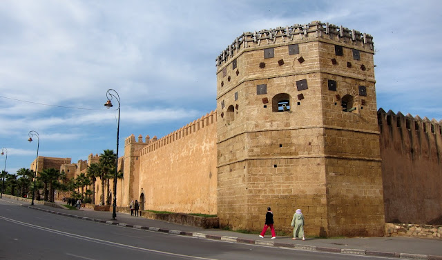 The outer wall of the Kasbah de Udayas, Rabat, Marocco