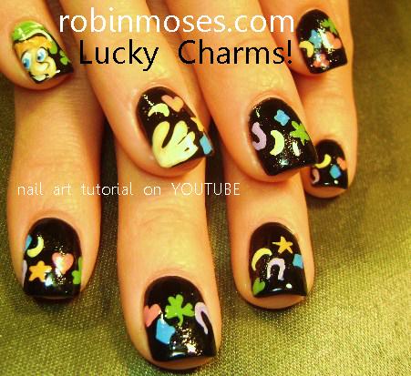 Pin Up Nail Art Lucky Charm Nail Art Kimya Dawson Lucky Charm