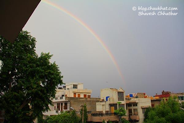 Beautiful rainbow in Jaipur