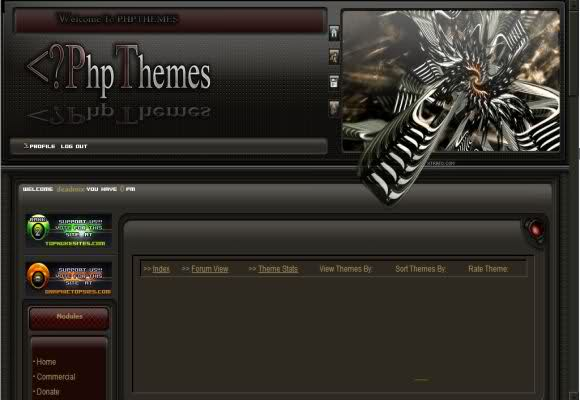Free Phpnuke Space Dark Black Web2.0 Theme