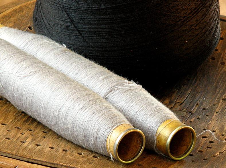 Antique wool spools
